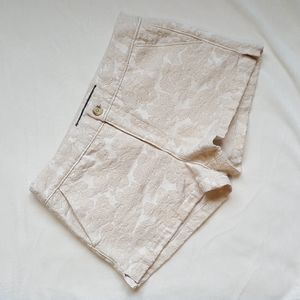 Abercrombie Cream Gold Shorts